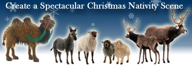 Christmas Nativity Scene Plush Animals Hansa Toys Free