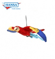 Flying Scarlet Macaw (3460)