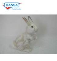 Bunny Grey and White 11.7''H (4153)