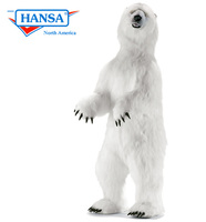 Hansatronics Mechanical Animated Polar Bear, Lifesize, Standing (0241)