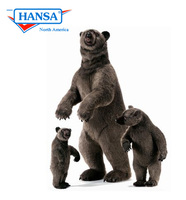 Hansatronics Mechanical Grizzly Bear Cub Standing Up On Two Feet (0201) - FREE SHIPPING!