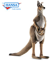 Hansatronics Mechanical Kangaroo, Mama and Joey - Lifesize (0113) - FREE SHIPPING!