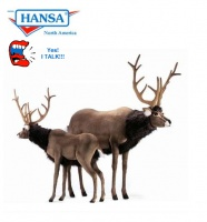 Hansatronics TALKING and SINGING Reindeer, Extra Large (0999) - FREE SHIPPING!