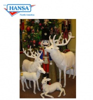 "Hansatronics Mechanical White Deer 60"" Tall (0278) - FREE SHIPPING!"