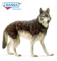 Hansatronics Mechanical Timber Wolf, Life Size (0143) - FREE SHIPPING!