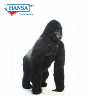 Hansatronics Mechanical Gorilla Life Size Male Silver Back 67''  (0291) - FREE SHIPPING!