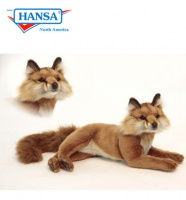 Hansa Red Fox Laying 15in (6087)