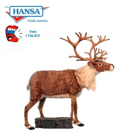 hansatronics talking and singing nordic reindeer extra large 0616 free shipping - Pictures Of Reindeer