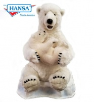 "Talking and Singing Polar Mama With Baby 30"" (0603) - FREE SHIPPING!"