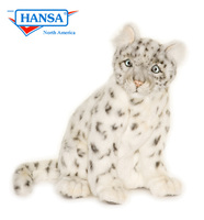 Snow Leopard Cub Sitting (4355) - FREE SHIPPING!
