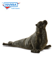 Sea Lion Cub Wet Look Coat, Reclining (4902)