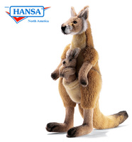 Kangaroo, Mama and Joey - Medium (3642)