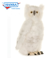 Snow Owl with Moving Head, 16in (4045)
