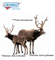 Deer, Extra Large Reindeer Ride-On (3349) - FREE SHIPPING!