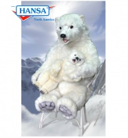 Hansatronics Mechanical Polar Bear Mama & Baby (0080)