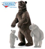 Hansatronics Mechanical Grizzly Bear, Lifesize (0167) - FREE SHIPPING!