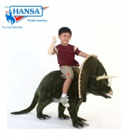 Hansatronics Mechanical Triceratops 4'L Ride On (0094) - FREE SHIPPING!