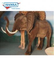 Hansatronics Mechanical Elephant Standing 10'L X 5'W X 6'H (0235) - FREE SHIPPING!
