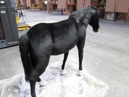 Life Size Black Pony 4059