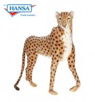 Cheetah Life Size Standing Jacquard 50