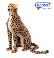 Cheetah, Life Size Jacquard Sitting 44